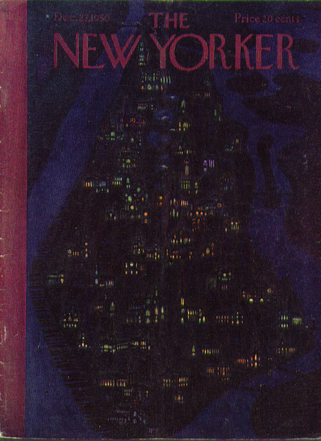 New Yorker cover Alain Manhattan churches 12/23 1950