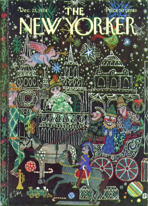 New Yorker cover Steig Christmas parade 12/23 1974