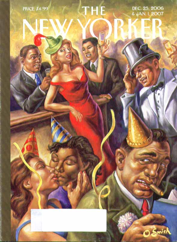 Image for New Yorker cover O Smith Harlem New Year's Eve Party at bar 12/25 2006 1/1 2007