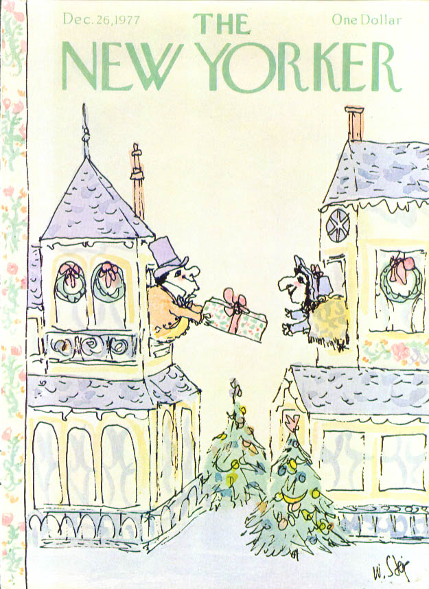 New Yorker cover Steig house-to-house gift 12/26 1977