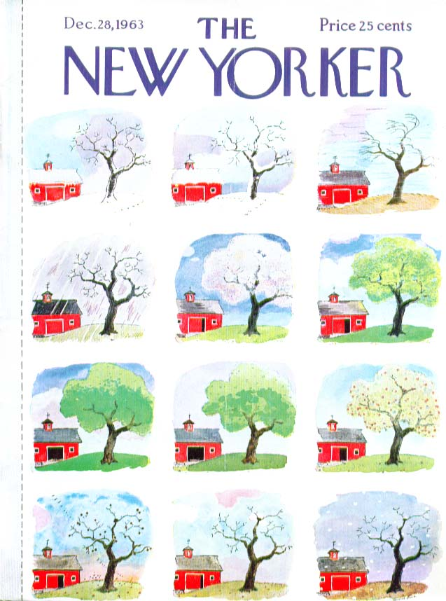 New Yorker cover Price apple tree thru year 12/28 1963