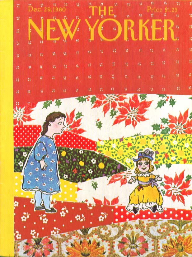 New Yorker cover Steig girl finds doll 12/29 1980
