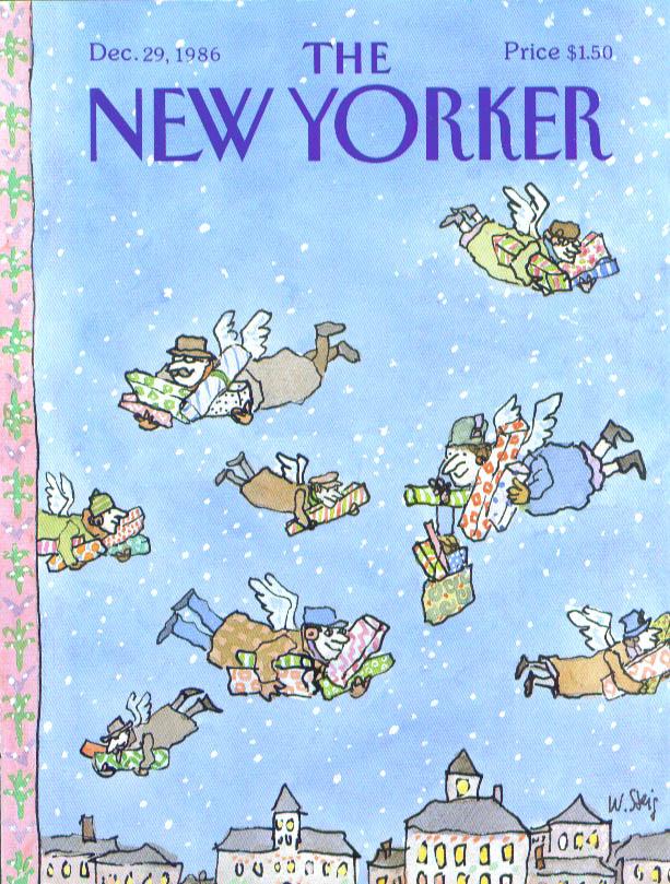 New Yorker cover Steig shopper angels 12/29 1986