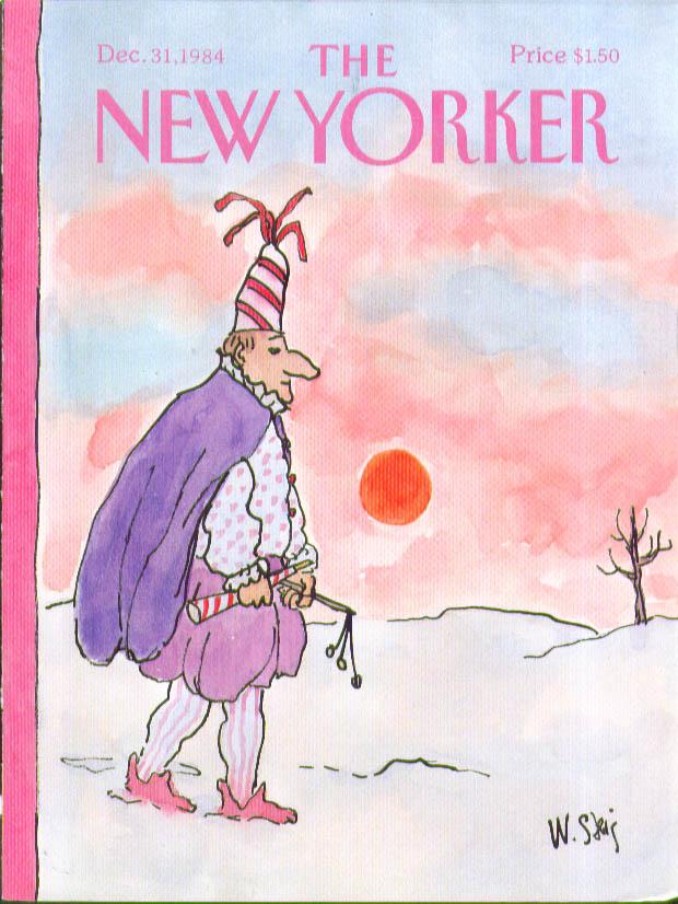 New Yorker cover Steig harlequin reveler 12/31 1984