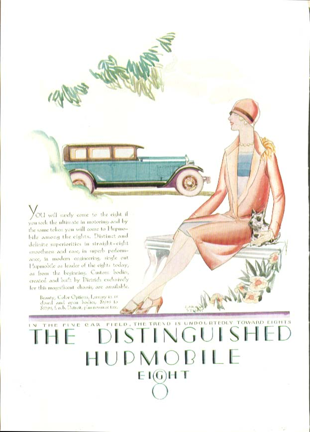 You will surely come to the eight Hupmobile Eight ad 1927