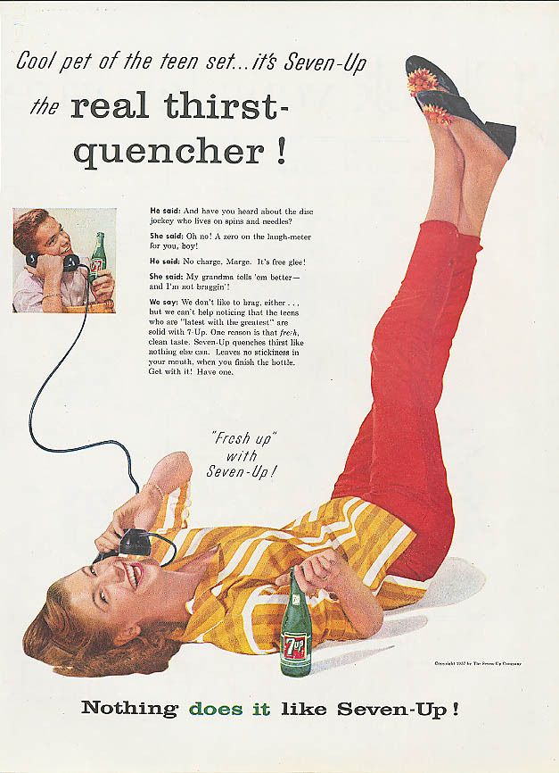 Image for Cool pet of the teen set 1957 7up ad capri pants