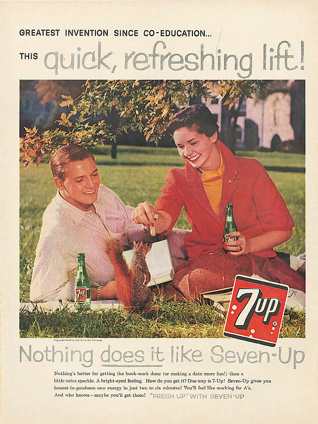 Image for Greatest since Co-Education 1959 7up ad feed squirrel