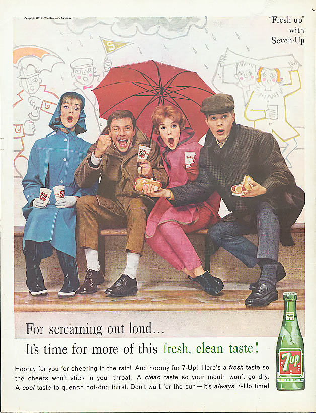 Image for For sreaming out loud 1961 7up ad football stands