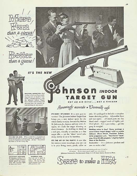 Image for More Fun! Johnson Indoor Target Gun ad 1947