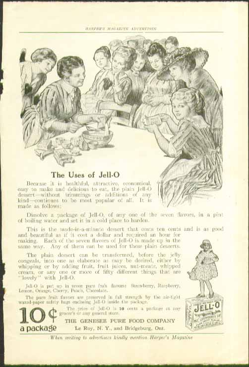 The uses of Jell-O 10c a package ad 1916 Rose Cecil O'Neill art