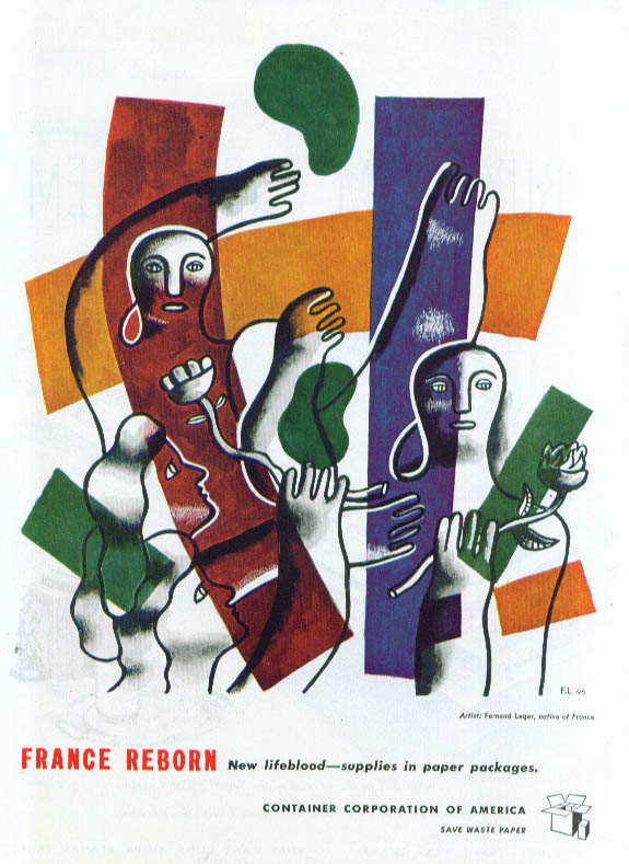 Image for Quand meme Paris l'Orsay Perfumes ad 1945 Fernand Leger