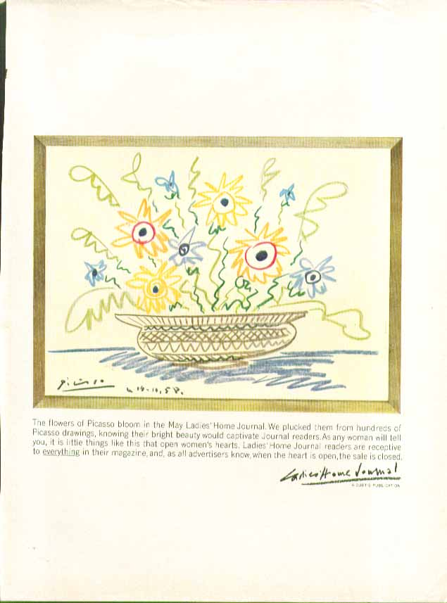 Image for The flowers of Picasso bloom in May Ladies' Home Journal ad 1960