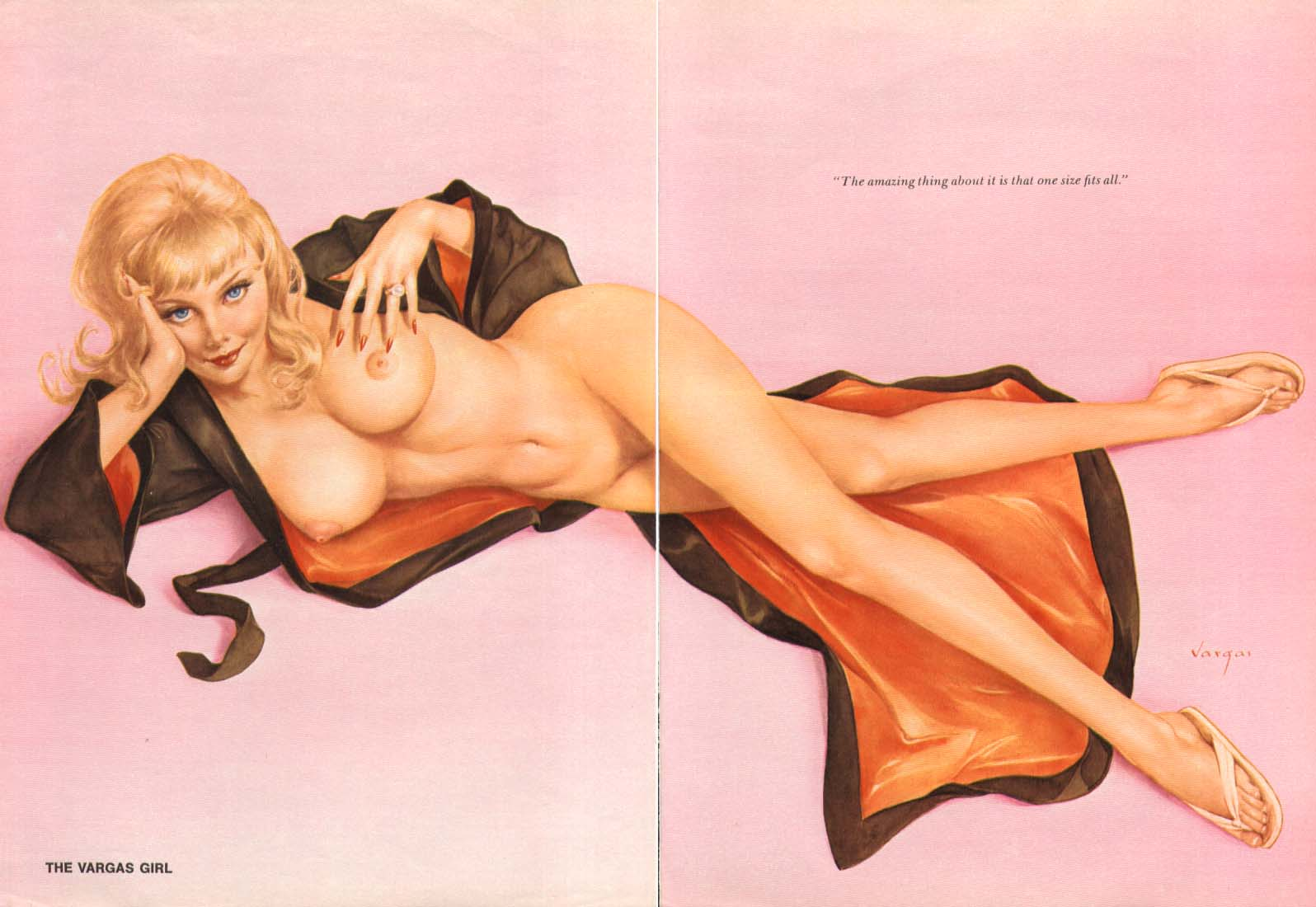 Image for Amazing thing - One size fits all Vargas pin-up 1974