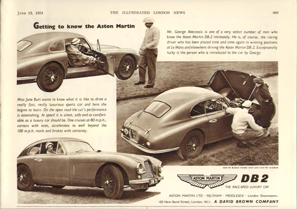 Image for Getting to know the Aston Martin DB2 ad 1953