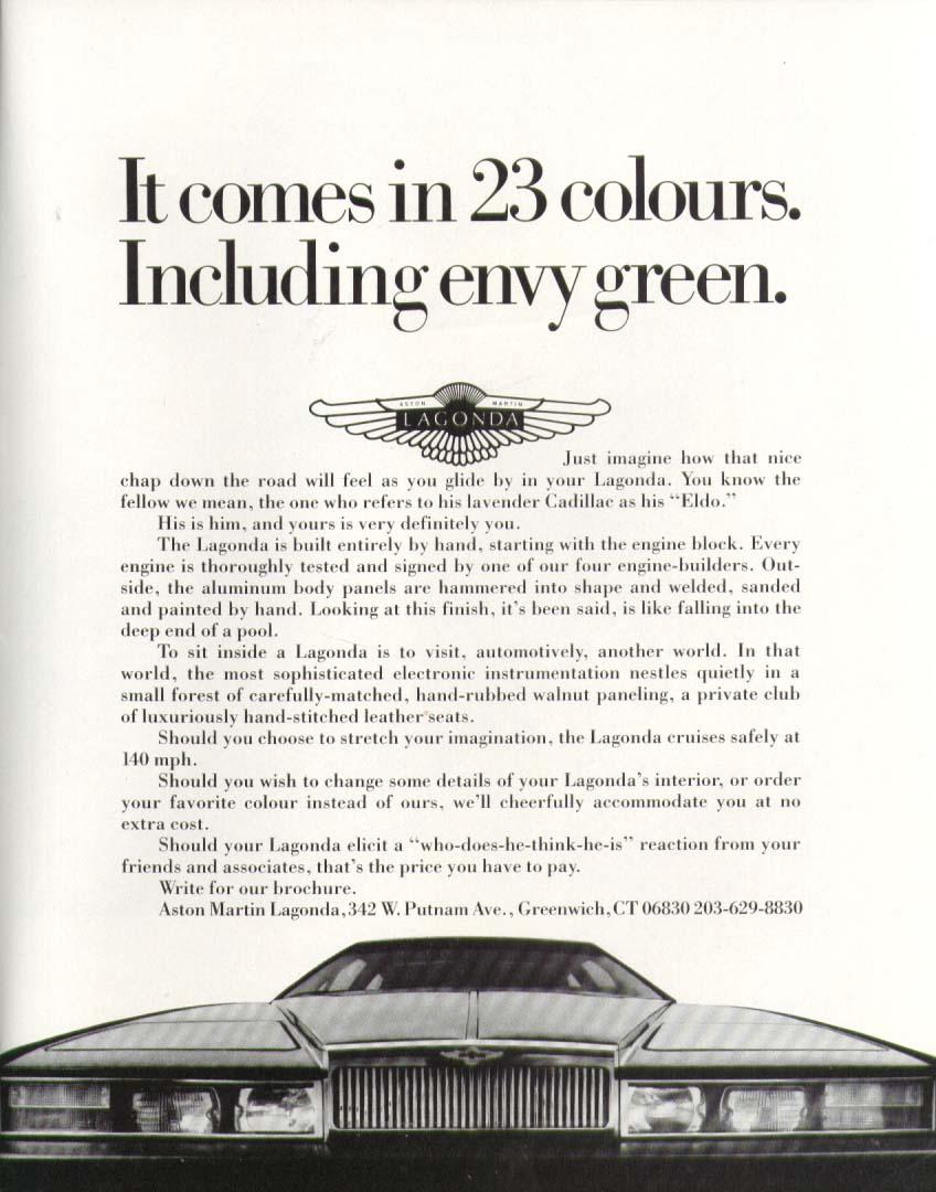 green Aston Martin Lagonda