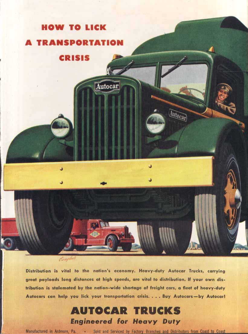 Image for How to Lick a Transportation Crisis Autocar ad 1947