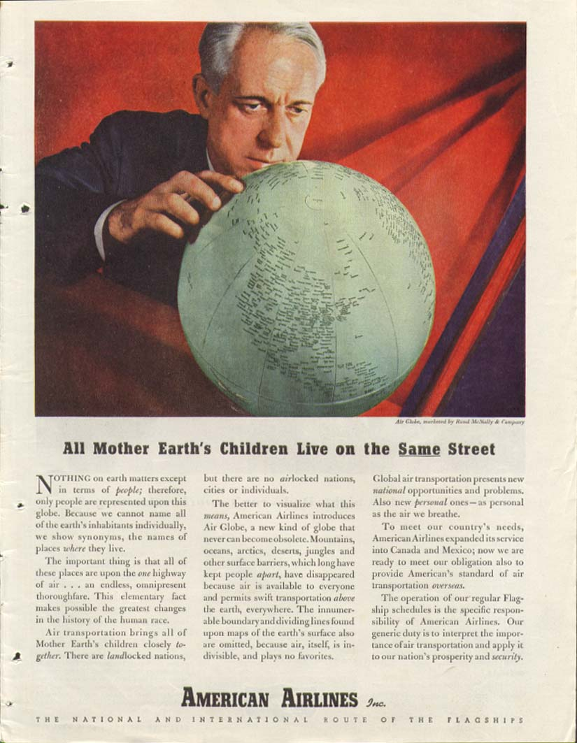 Image for All Mother Earth's Children American Airlines ad 1944