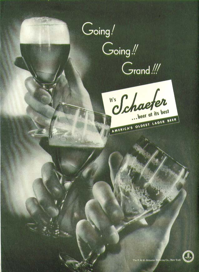 Image for Going! Going!! Grand!!! Schaefer Beer ad 1941