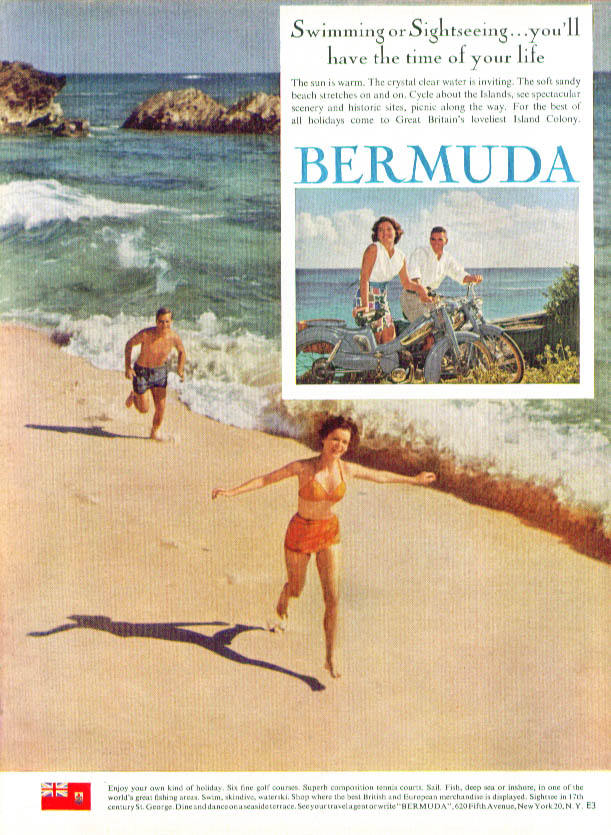 Swimming or Sightseeing - Bermuda ad 1962
