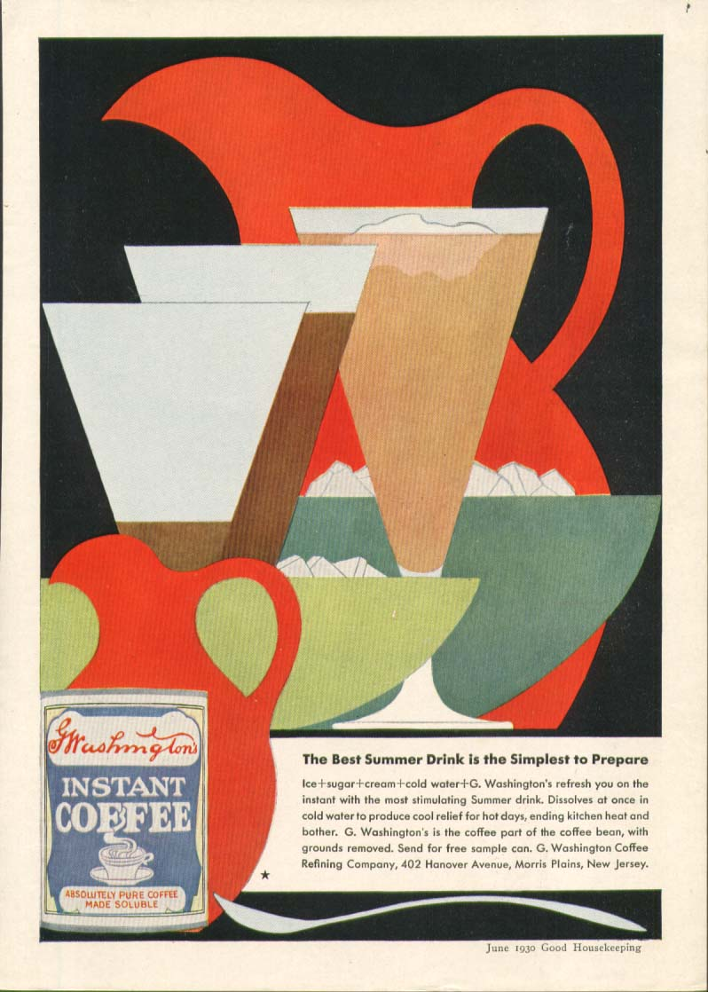 Image for Washington's Instant Coffee ad 1930