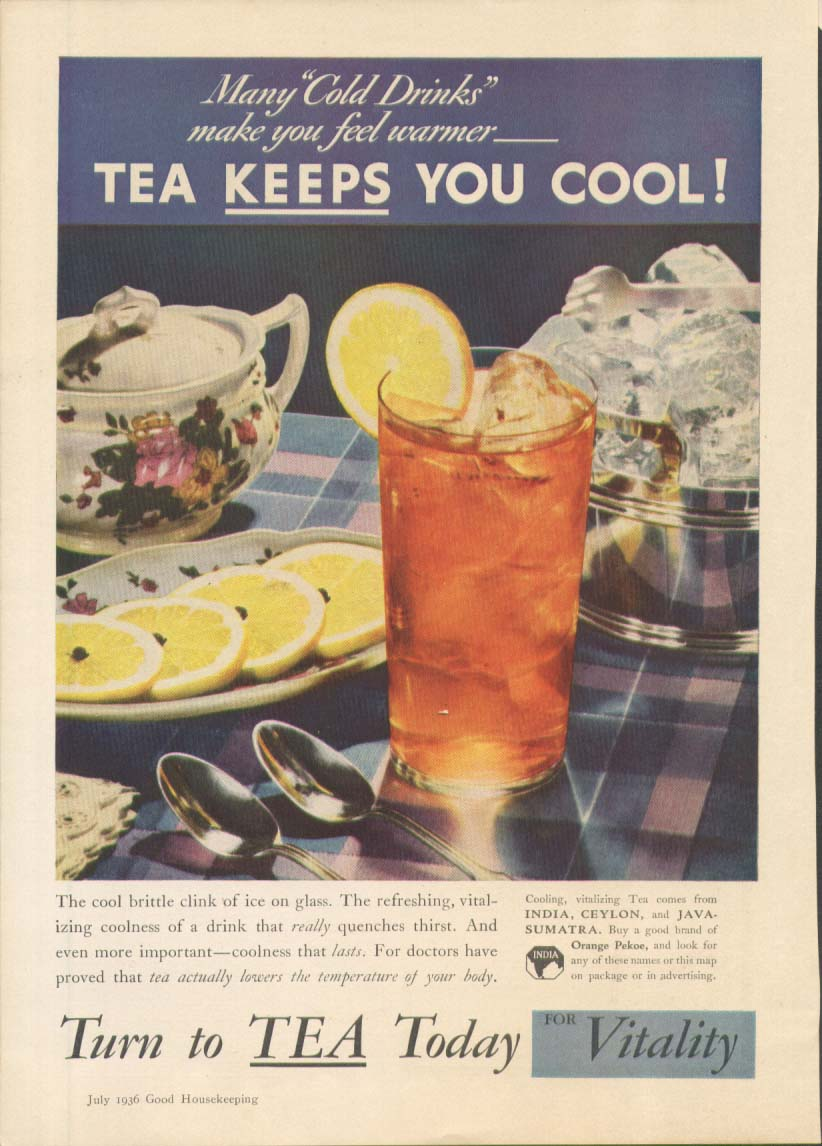 Image for India Tea Keeps You Cool! Ad 1936