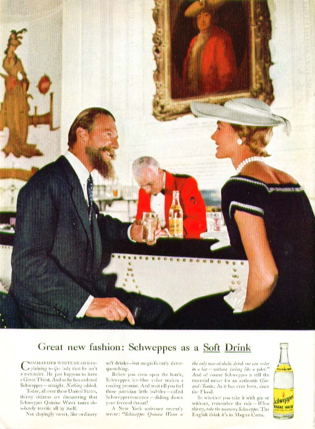 Great New Fashion Schweppes as soft drink ad 1956