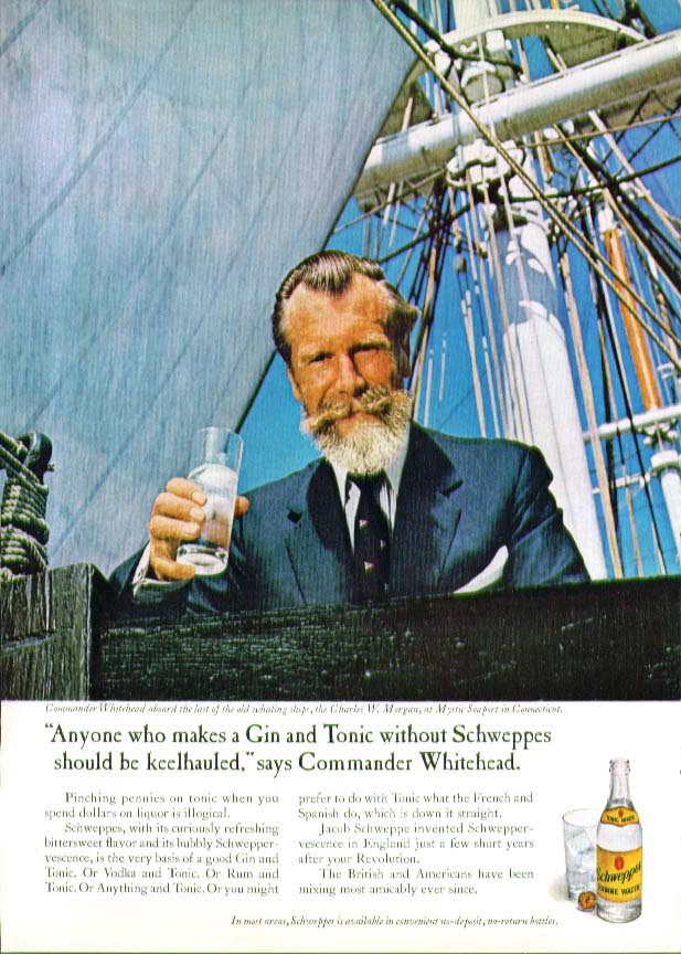 Anyone makes Gin-and-Tonic without Schweppes ad 1967