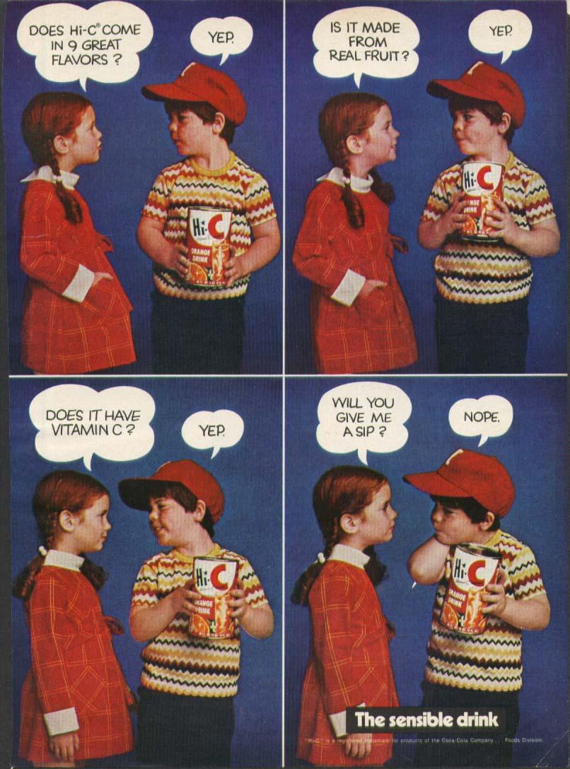 Image for Hi-C Orange The Sensible Drink ad 1970