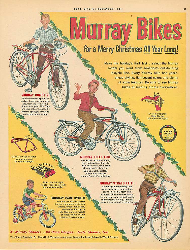 Image for Murray Strato Flite Comet Fleet Line bicycle ad 1961