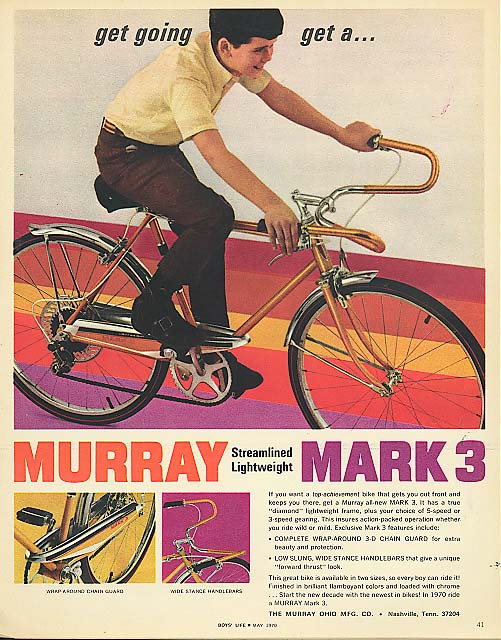 Get Going - Get a Murray Mark 3 bicycle ad 1970