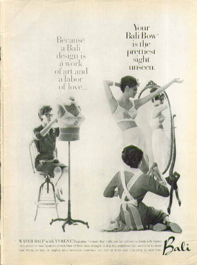 A Bali Bow is the prettiest sight unseen Bali bra ad 1961
