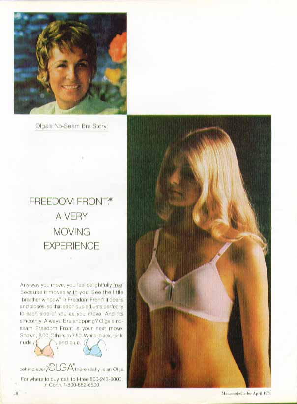 Freedom Front. A very moving experience Olga bra ad 1974