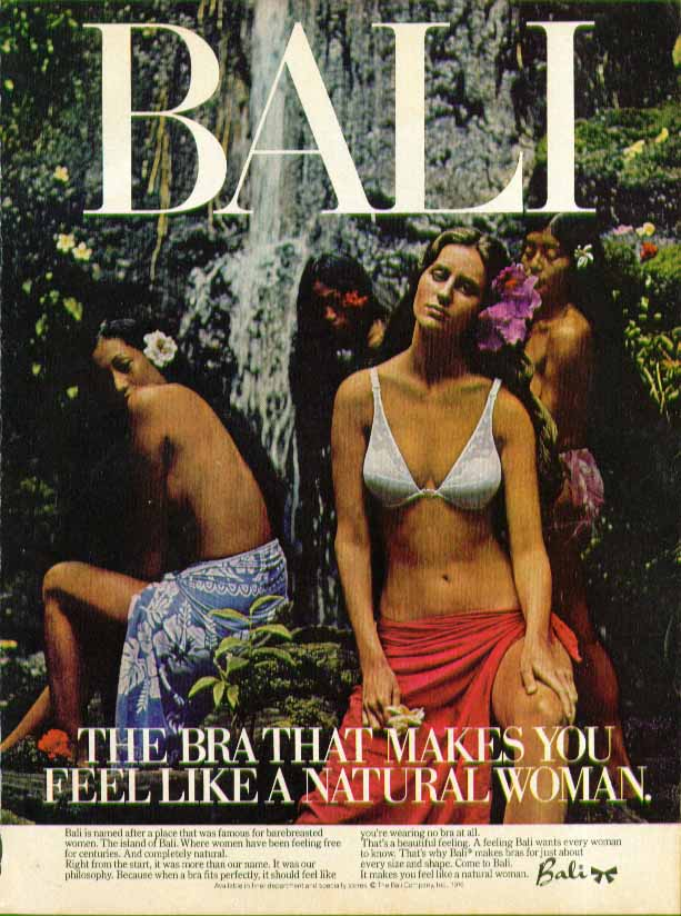 The bra that makes you feel like a natural woman. Bali bra ad 1976 #1