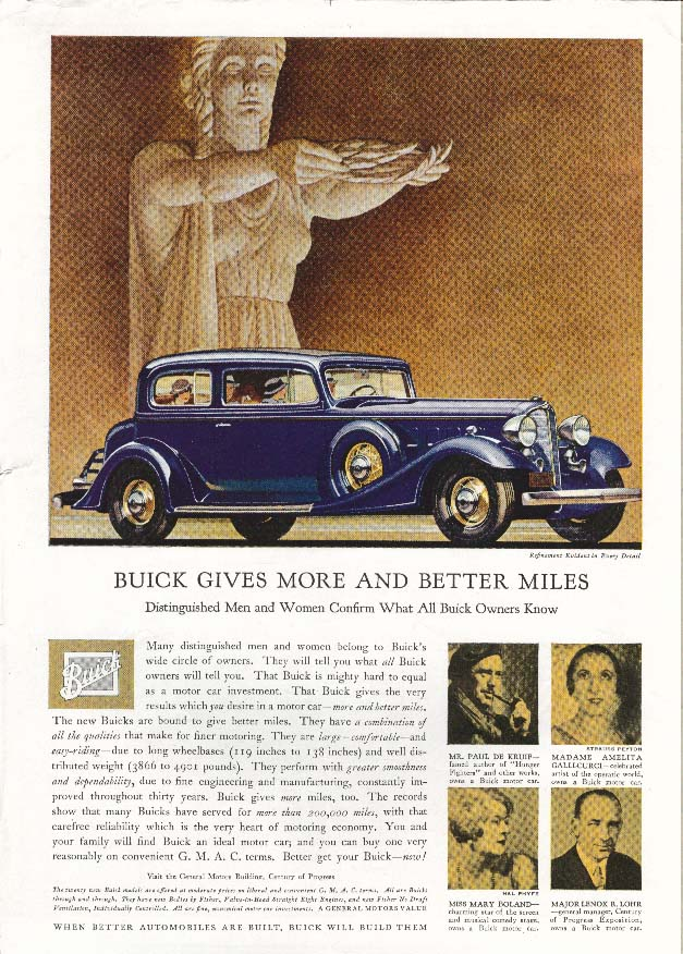 Image for Buick Distinguished Confirm Mary Boland ad 1933