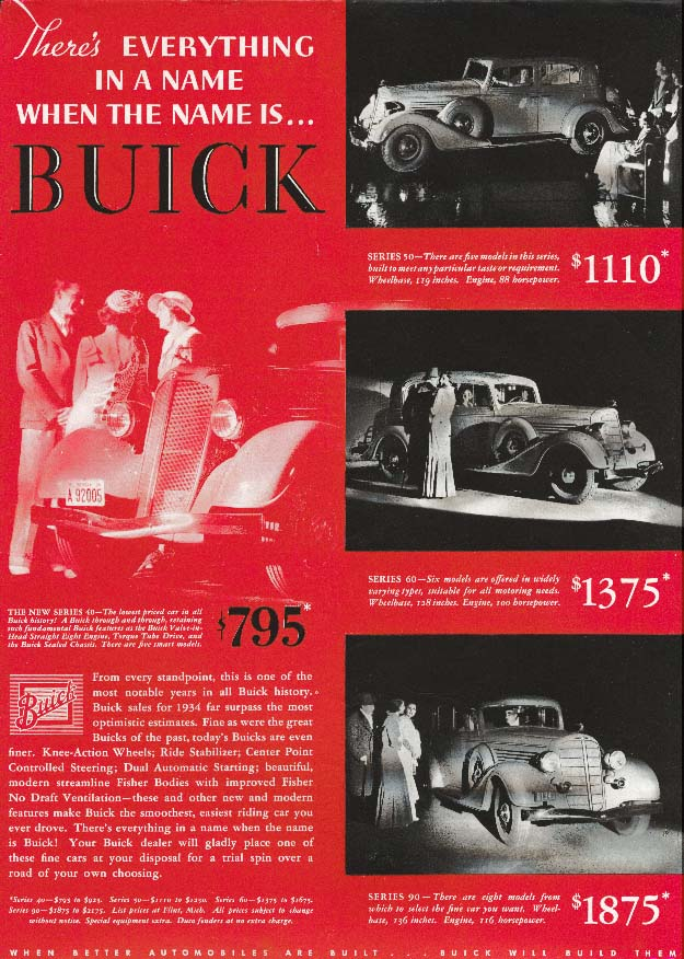 Image for Buick There's Everything in a Name Series 40 ad 1935
