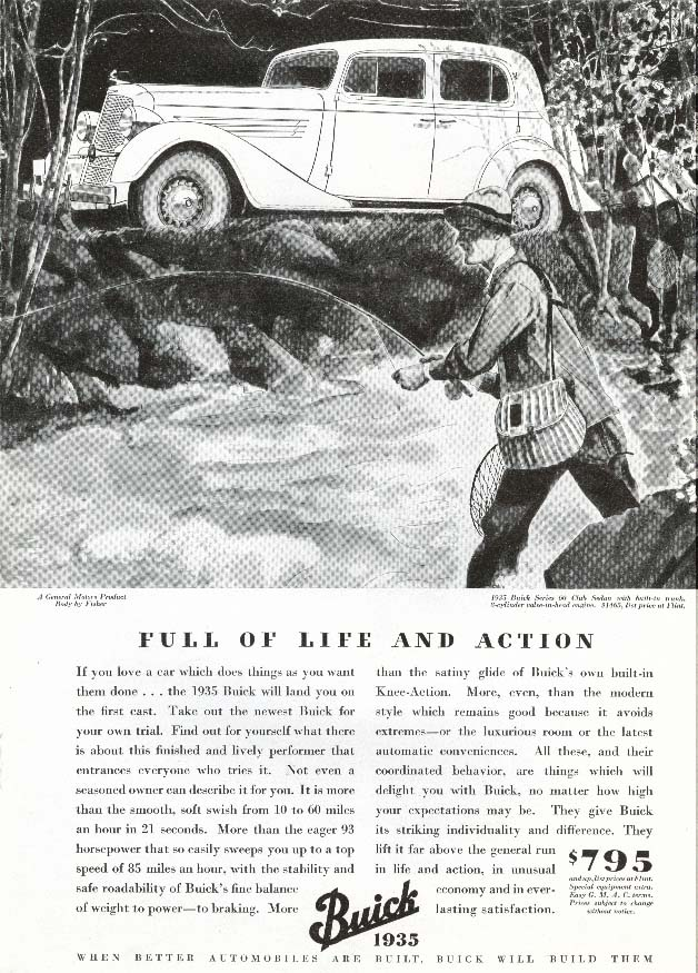 Image for Buick Series 60 Sedan Full of Life and Action ad 1935