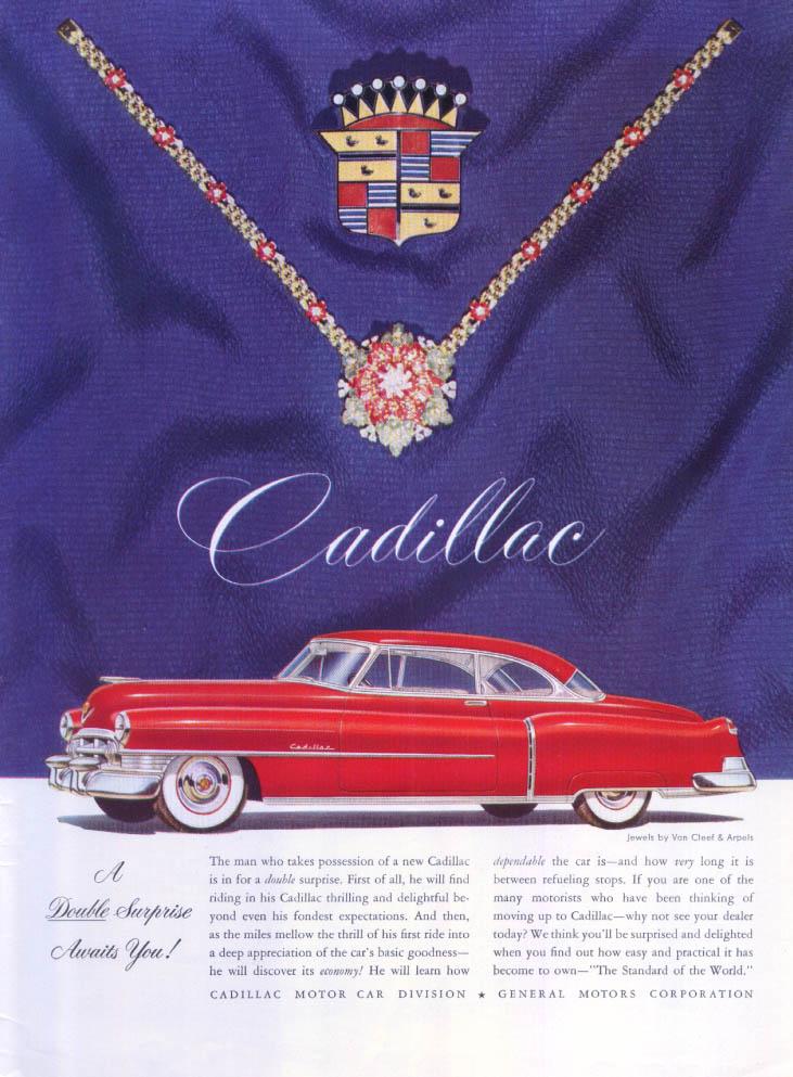 Cadillac double surprise Van Cleef Arpels ad 1950