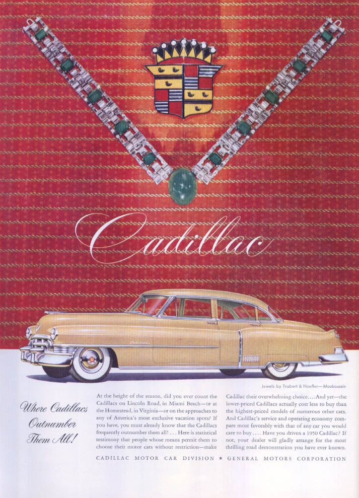 Image for Cadillac Outnumber Them All Trabert Hoeffler ad 1950