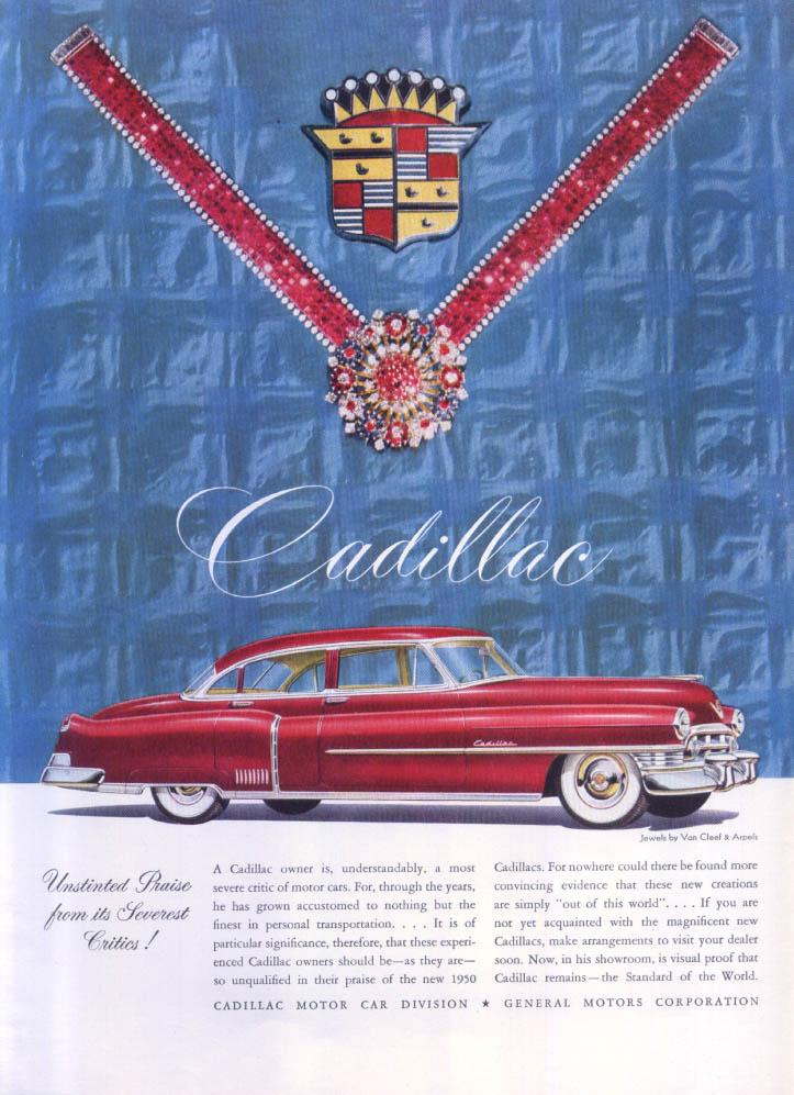 Cadillac Unstinted Praise Van Cleef Arpels ad 1950