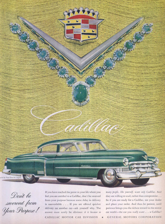 Image for Cadillac Don't be swerved Van Cleef Arpels ad 1951