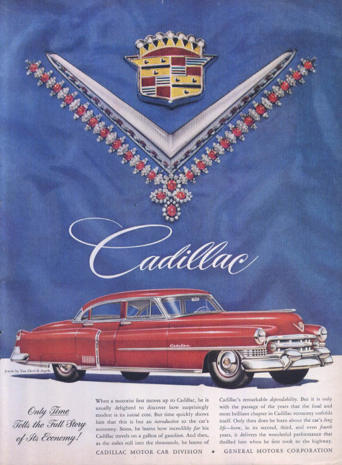 Image for Cadillac Only Time Tells Van Cleef Arpels ad 1951