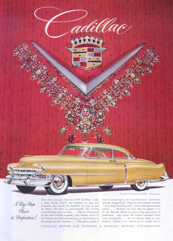 Image for Cadillac Closer to Perfection Trobart Hoeffler ad 1951