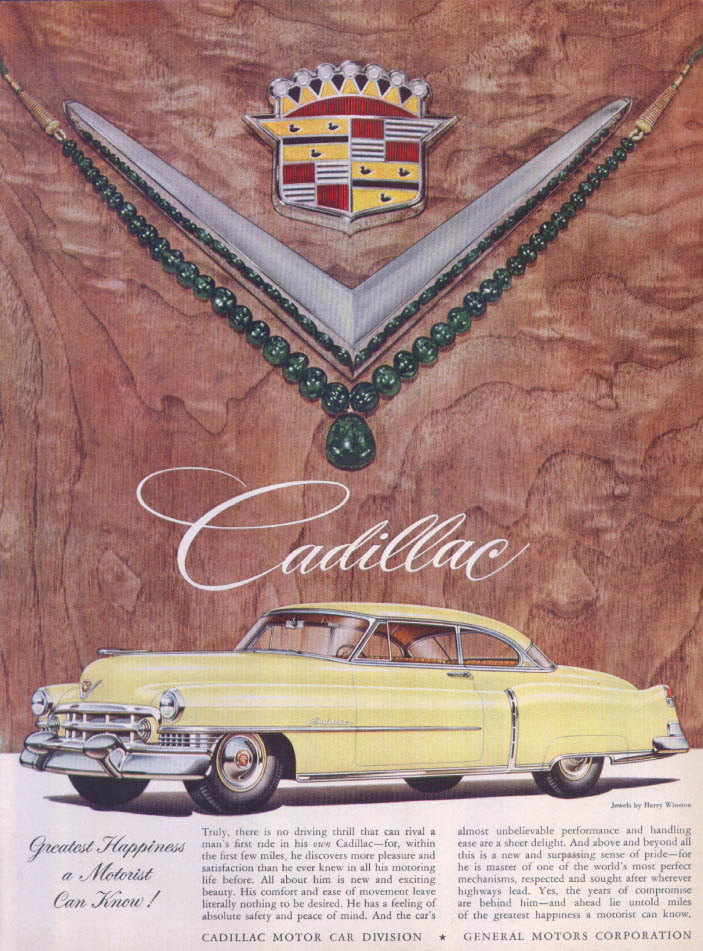Image for Cadillac Greatest Happiness Harry Winston ad 1951