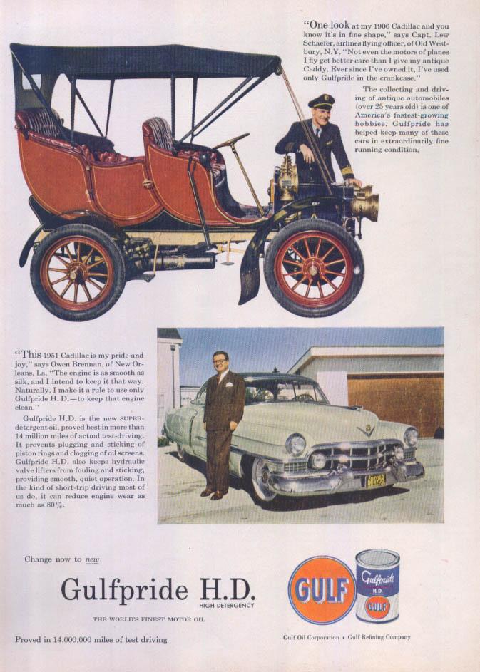 Gulf Gulfpride 1906 Cadillac ad 1951