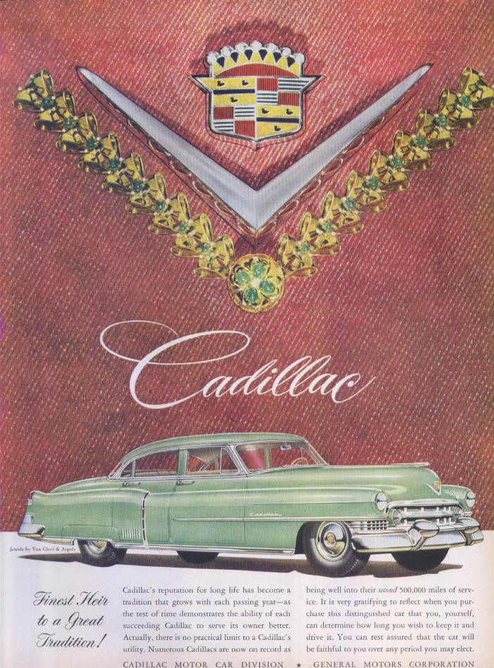 Image for Cadillac Finest Heir Tradition Van Cleef Arpels ad 1951
