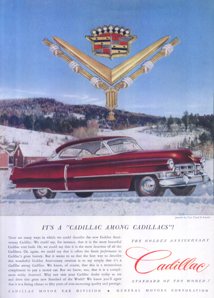 Cadillac among Cadillacs Van Cleef Arpels ad 1952