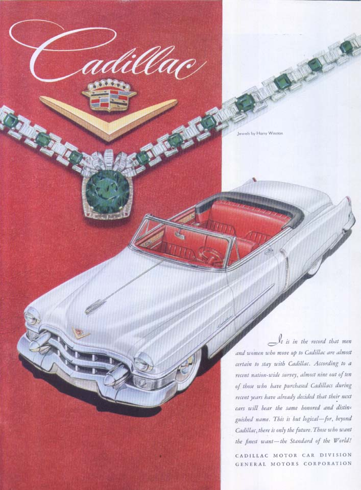 Image for Cadillac beyond is only future Harry Winston ad 1953