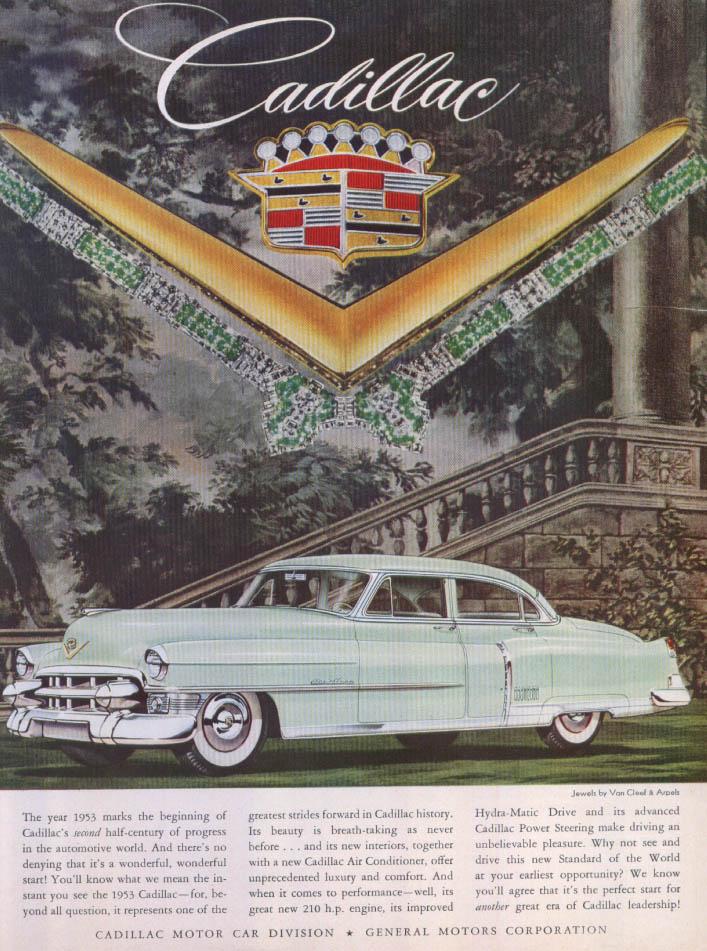 Cadillac Half-century progress Van Cleef Arpels ad 1953
