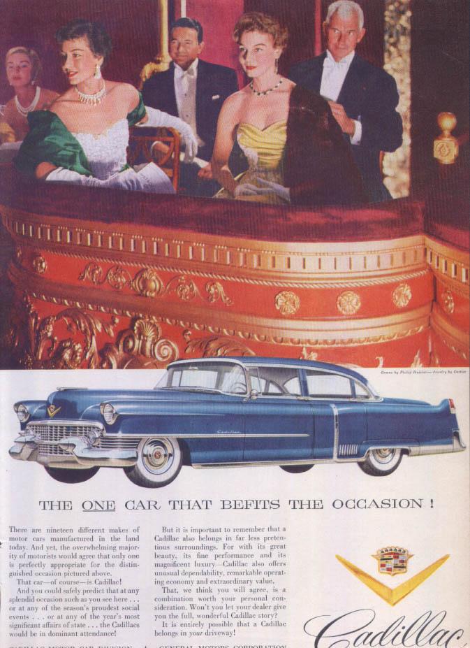 Cadillac One Car Befits Occasion Philip Hulitar ad 1954