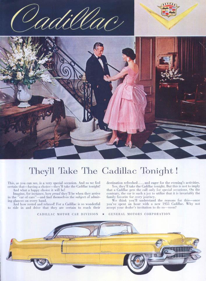 Cadillac They'll Take Tonight! Ad 1955